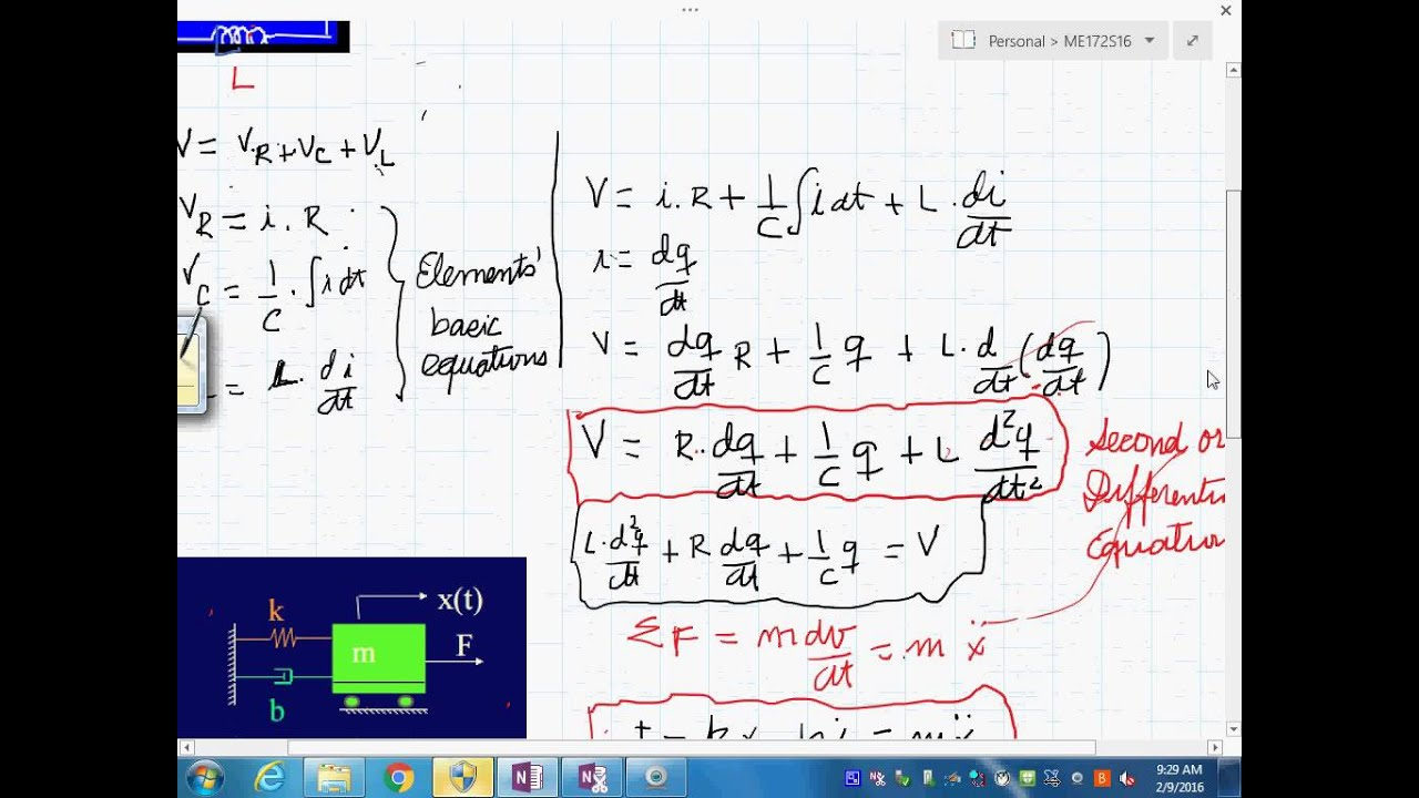 review differential equations second order form block diagrams electrical systems 922016 948 56 [ 1280 x 720 Pixel ]