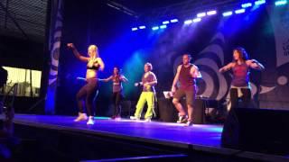 Zumba Mega Party Trois-Rivieres Marcie Benavides, DJ Francis, Karine Opasinski, Ricardo Marmitte