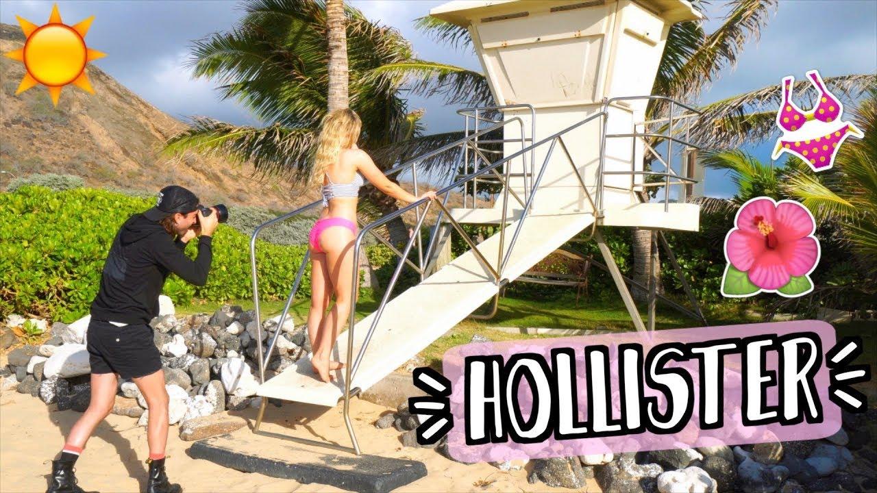 0a1f79d099 Doing a BIKINI Photoshoot?! Behind the Scenes as a Hollister Swim ...