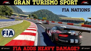 GT Sport - FIA Nations - Damage is set to maximum now?