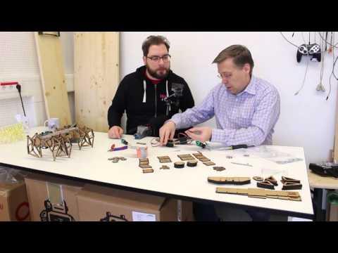 aus der make 1 16 strandbeest roboter selber bauen youtube. Black Bedroom Furniture Sets. Home Design Ideas
