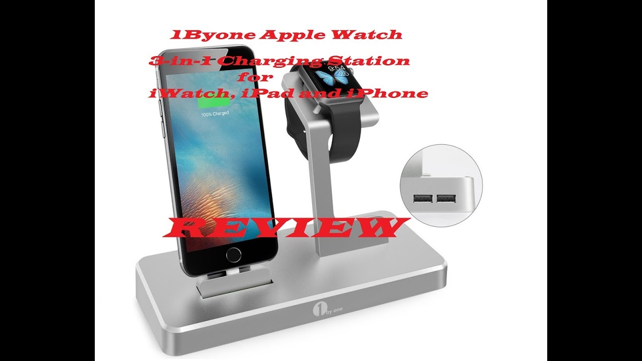 apple watch charging stand 3in1 charging station for iwatch ipad and iphone by 1byone review - Iphone Charging Station