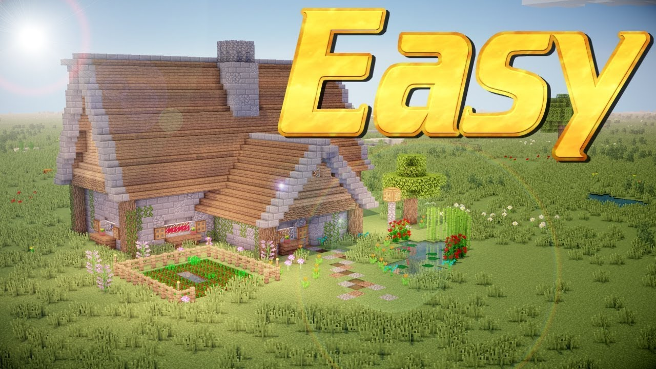 Minecraft How To Build A Rustic House In Easy Tutorial Lets Pc