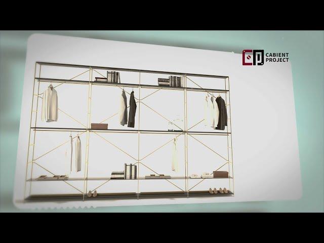 Proyecto de gabinete Armario de concepto abierto y almacenamiento de ropa abierto