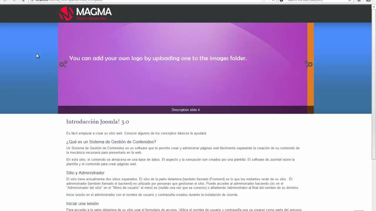 Gestion de Plantillas en Joomla 3.0- Instalar y configuracion de ...