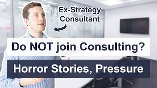 Why you should NΟT join Consulting (horror stories, mental health)