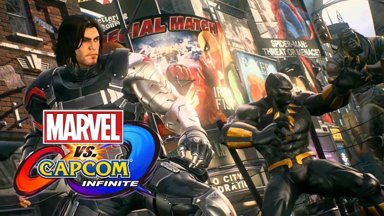 Winter Soldier Black Widow And Venom Character Gameplay Trailer Marvel Vs Capcom Infinite