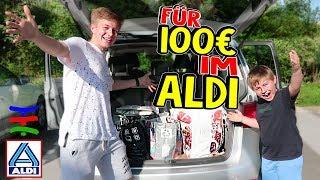 Mit 100 Euro zu ALDI 🛒 DAS kaufen Ash und Max 😲 wenn sie alleine sind 😁 TipTapTube Family 👨👩👦👦