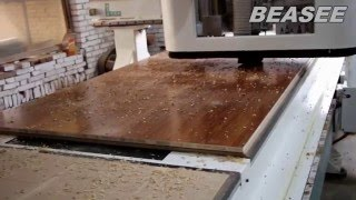 BEASEE CNC router working on wood MDF.wood cutter.MDF cutting machine