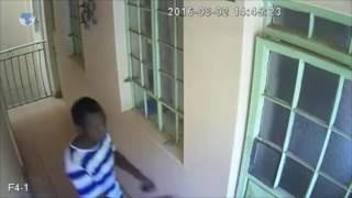 Thieves caught on camera breaking into a house in Roysambu