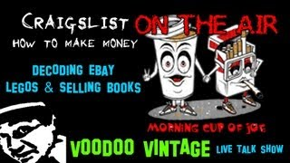 Morning Cup Of Joe E15 Live Picker Show: Selling Books & Legos