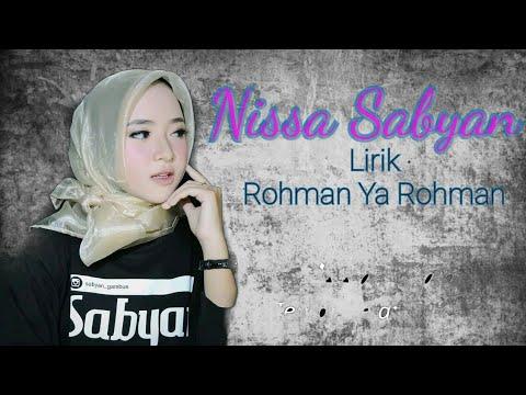 SHOLAWAT NABI - LIRIK ROHMAN YA ROHMAN ( COVER SABYAN )