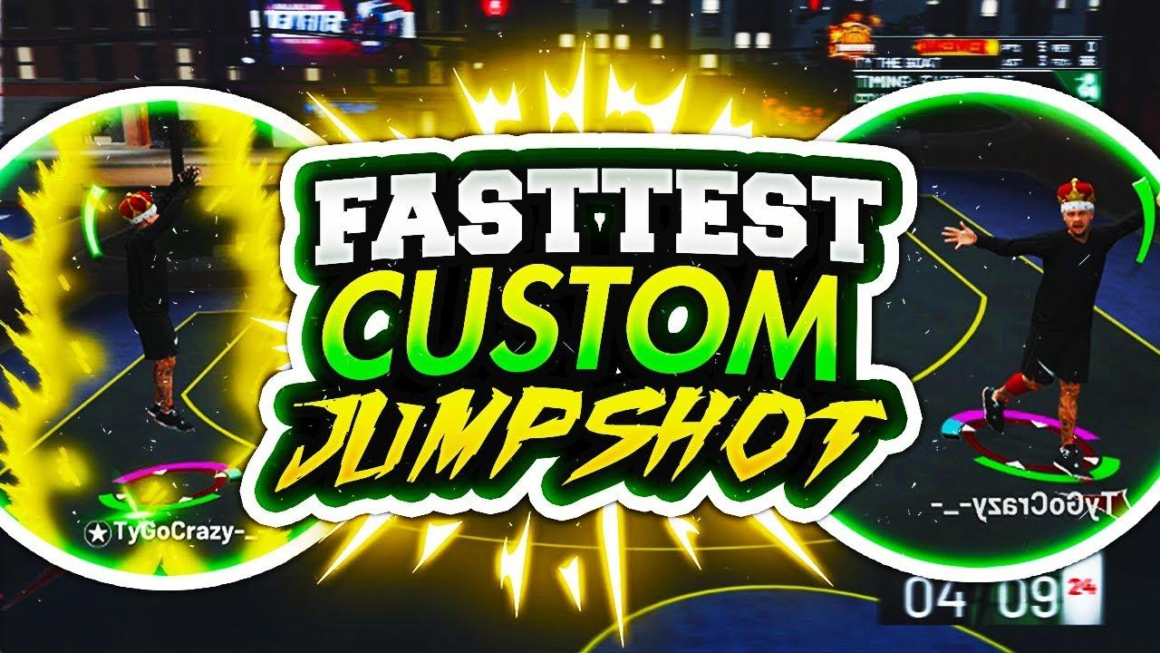 FASTEST JUMPSHOT IN NBA 2K19! QUICKEST CUSTOM JUMPSHOT THAT WILL HELP YOU  WIN! NBA 2K19 MYPARK