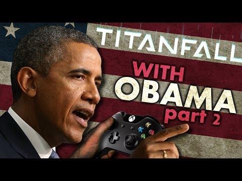 President Obama Plays More Titanfall