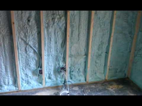 Spray Foam Insulation For Basement Walls Youtube