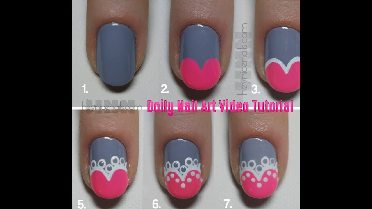 - Fun Nail Art Doily Nail Art Video Tutorial FabYouNails - YouTube