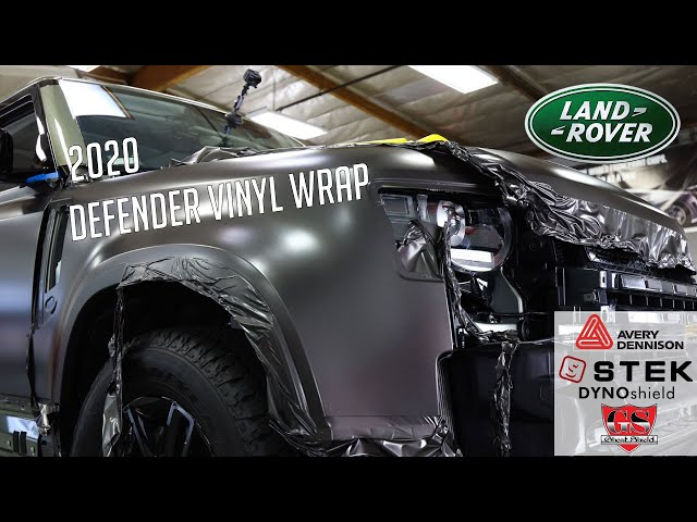 2020 Land Rover Defender Vinyl Wrap, Black Paint Protection Film by Ghost Shield Film