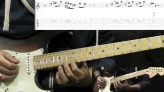 Jimi Hendrix - Crosstown Traffic - Rock Guitar Lesson (with Solo and TABS)