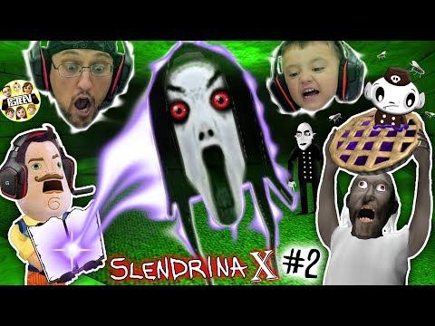 HELLO NEIGHBOR traps SLENDRINA X & GRANNY SISTER ESCAPE & EAT BLUEBERRY PIE (FGTEEV Dudz & Shawn #2)