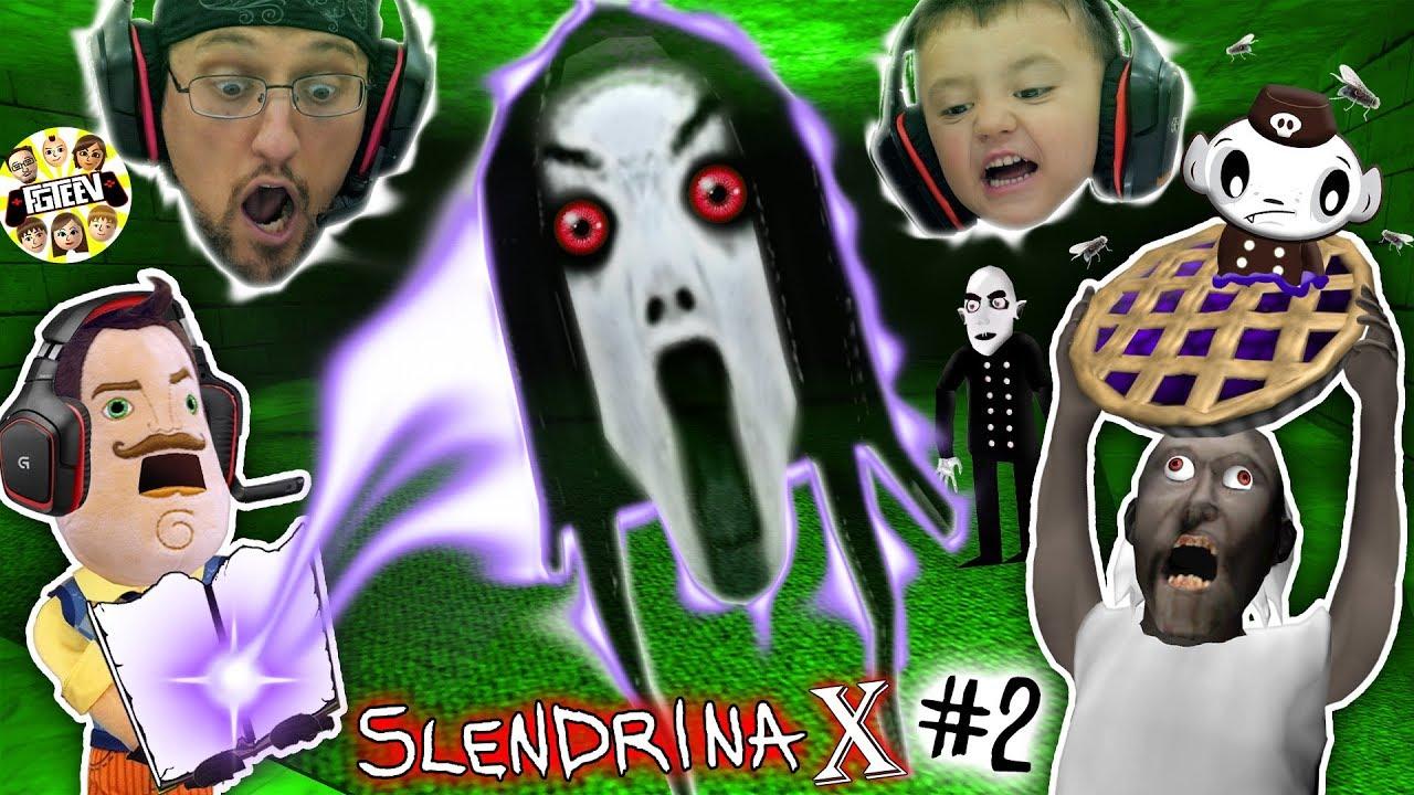 Hello Neighbor Traps Slendrina X Granny Sister Escape