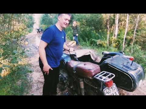 Мотоцикл Днепр Мт 16 и 2 Мт 10. штурмуем грязь и глубокие лужи.