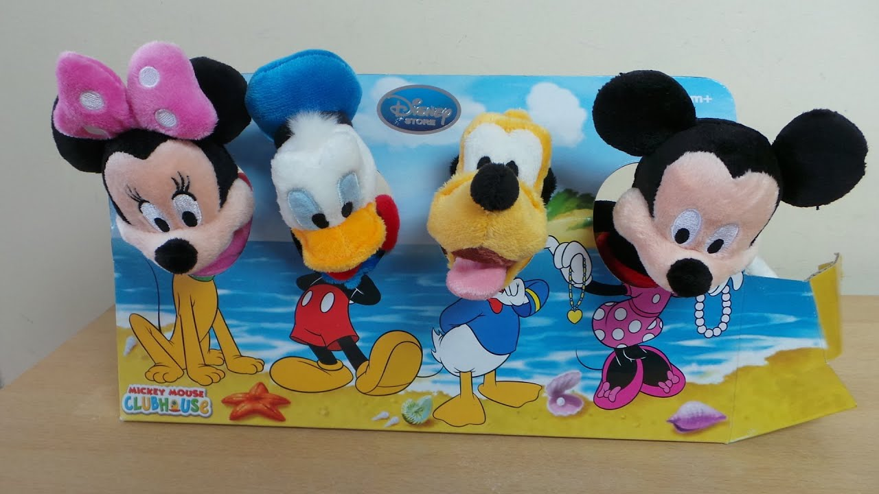 Disney Store Haul Clubhouse Soft Toy Set With Mickey Minnie Mouse Donald Duck Pluto