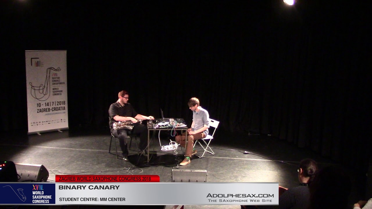Feedback by Kyle Hutchins & Ted Moore   Binary Canary   XVIII World Sax Congress 2018 #adolphesax