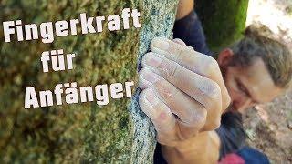 Fingerkraft aufbauen an der Boulderwand