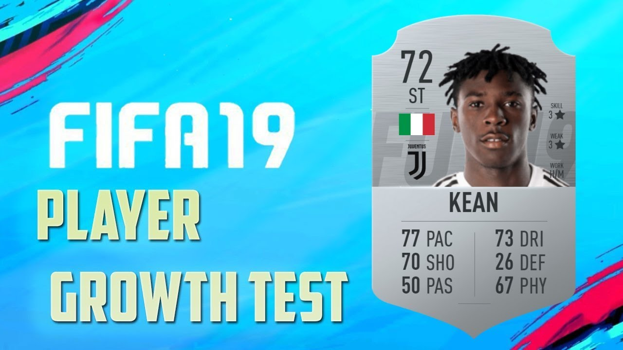 Fifa 19 Moise Kean Growth Test Youtube