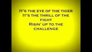 The eye of a tiger lyric (karaoke) high quality