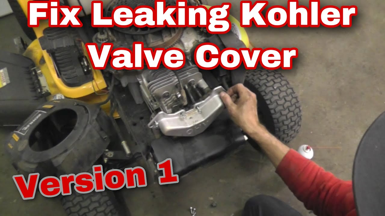 How To Fix A Leaking Kohler Courage Valve Cover With Taryl
