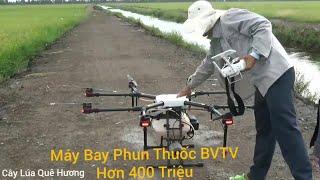 Cận Cảnh Máy Bay Phun Thuốc, Bảo - Vệ -Thực - Vật Hơn 400 Triệu Cắt Hạ Cánh