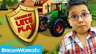 Farm Simulator Review with Jacob from TeraBrite Games | LEAGUE OF LET'S PLAY