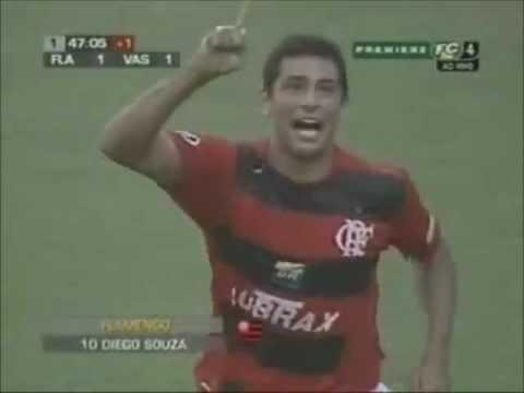 Diego Souza, jogador do Flamengo em 2005 e 2006