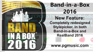 Band in a Box 2016 for Windows - New Features and New RealTracks!
