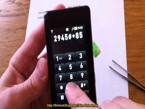 LG prada KE850 unlocking simlock enter unlock codes