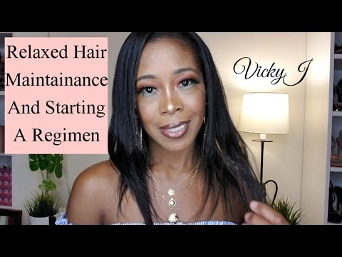 🍃Tips To Maintaining Healthy Relaxed Hair and Starting A Hair Care Regimen | VickyJ