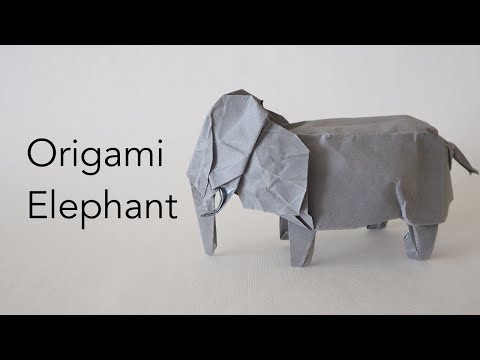 Make Origami #withme - Origami African Elephant Tutorial - Designed By Ryan Welsh