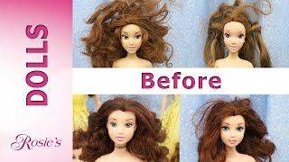 Belle Dolls Multi Makeover Part 1 -  Hair Repair