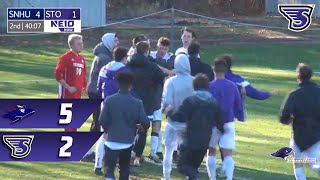 Stonehill Men's Soccer Highlights and Post-Game Interview vs SNHU