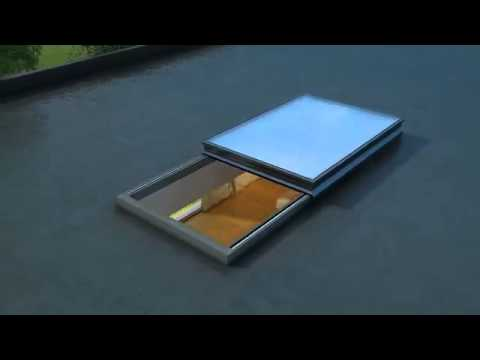 Electric Sliding Roof Light In Motion Youtube