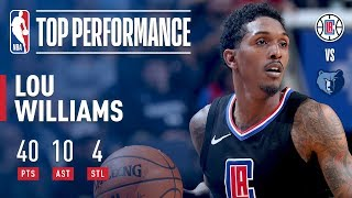 Lou Williams Leads Clippers Over Grizzlies With 40 Pts, 10 Ast | January 26, 2018