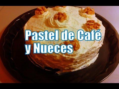 Tarta de café y nueces de pecán (Receta) - Dulces con Alma