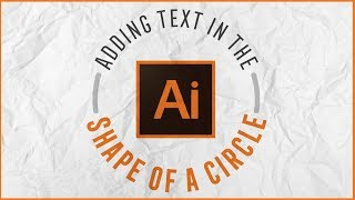 إضافة نص في شكل دائرة (Adobe Illustrator)