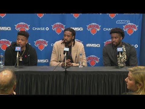 Dennis Smith Jr., DeAndre Jordan, Wesley Matthews Discuss Joining Knicks