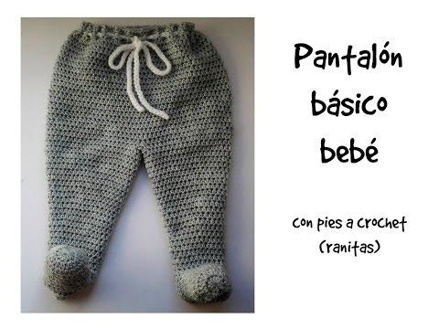 Pantalón básico bebé con pies (ranitas) 1ª parte #tutorial ...