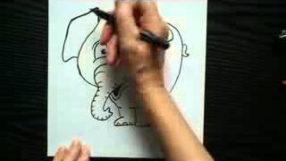 Видео урок Как нарисовать слонёнка Получится у всех)