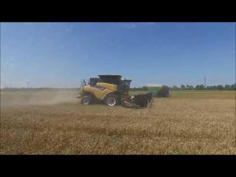 Emerick Farms 2016 Wheat Harvest - Drone & Go Pro Video Footage