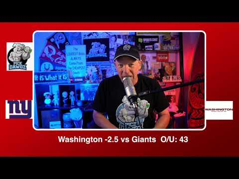 Washington Football Team vs New York GIants NFL Pick and Prediction Sunday 11/8/20 Week 9 NFL