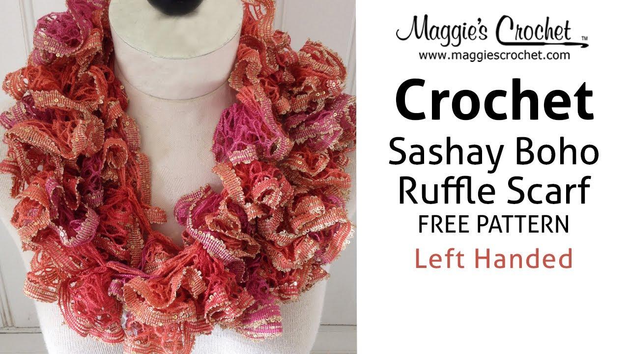 Ruffled Scarf Free Crochet Pattern Maggies Crochet